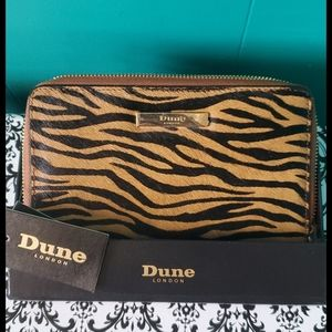 Dune London Calfhair Zippered  Wallet